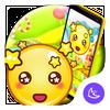 Yellow Cute Emoji APUS Launcher theme