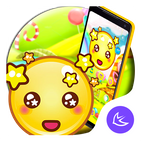 Yellow Cute Emoji APUS Launcher theme APK